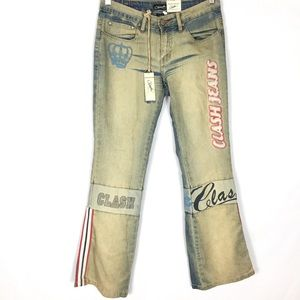 Vintage 2000's new old stock denim dirty jeans